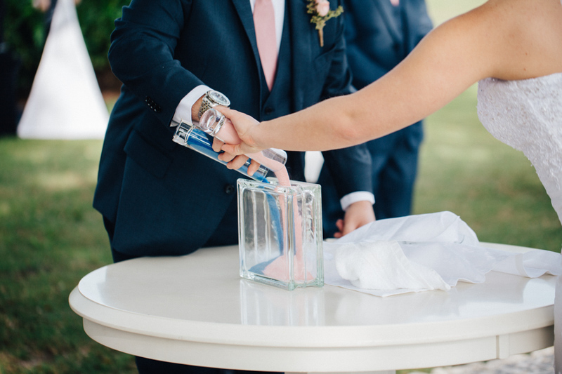sand ceremony from Tuscawilla Country Club wedding